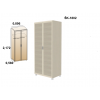 MELISA M-7 miegamojo komplektas (spintos, pakabinama spintelės, spintelės prie lovos, lova)