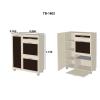 MELISA P-12 prieškambario komplektas (veidrodis, spintelės, spintos, pakabinamos spintelės, pakabinamos lentynos)