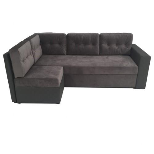 AMELIJA sofa su pufu + antčiužiniu, minkšta, miegama sofa- lova, svetainės, vaikų kambariui