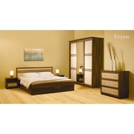 VEGAS miegamojo komplektas, lova, komoda, spintelė, spinta