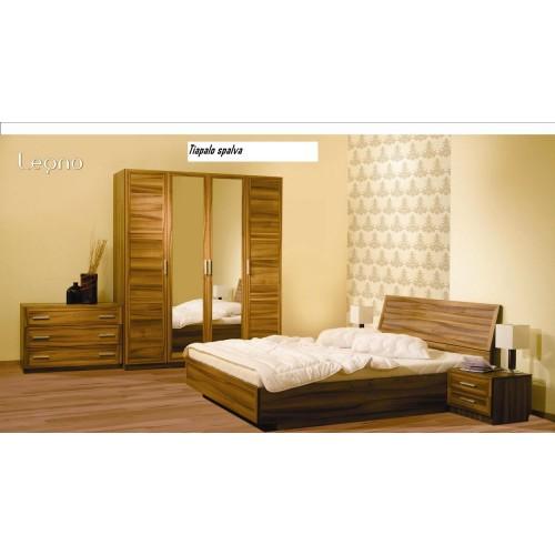 LEGNO miegamojo komplektas, lova, spintelė, komoda, spinta, kampinė spinta