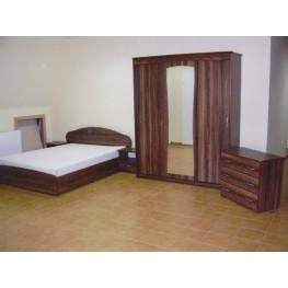 VAKARĖ miegamojo komplekas, lova, spinta, spintelė, komoda