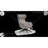 NORA fotelis, argonomiškas patogus , minkštas, Magrės baldai