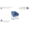 MINIJA fotelis, argonomiškas patogus , minkštas, Magrės baldai