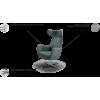 NERIS fotelis, argonomiškas patogus , minkštas, Magrės baldai