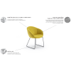 RUSNĖ fotelis, argonomiškas patogus , minkštas, Magrės baldai