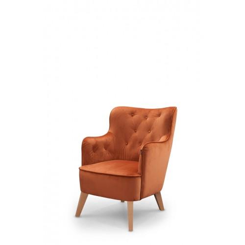 VIKTORIJA fotelis, argonomiškas patogus , minkštas, Magrės baldai