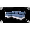 PERLA kampas, minkštas svetainės kambario miegamas kampas, Magrės baldai