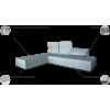 SMART MINI minkštas svetainės kambario miegamas kampas, Magrės baldai