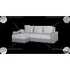 MM-6 kampas, minkštas svetainės kambario miegamas kampas, Magrės baldai