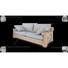 RIEŠĖ trivietė svetainės minkšta nemiegama sofa, Magrės baldai