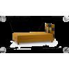 Disco kušetė, miegama kušetė 100, Magrės baldai