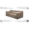 GRAND sofa, svetainės minkšta , patogi sofa , Magrės baldai