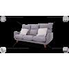 GRETA svetainės minkšta trivietė nemiegama sofa , Magrės baldai