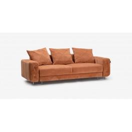LUXOR sofa, trivietė miegama svetainės kambario minkšta sofa, Magrės baldai