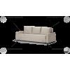 MM 2 sofa, svetainės miegama minkšta didelė sofa- lova, Magrės baldai