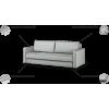 ROMANTIC trivietė miegama sofa- lova, svetainės kambario minkšta, Magrės baldai