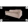 TITAN minkštas svetainės kambario miegamas kampas, Magrės baldai