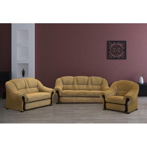 LOKYS komplektas, sofa, lova, fotelis, sofutė, minkštas svetainės baldas